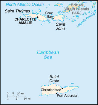 Map of Virgin Islands